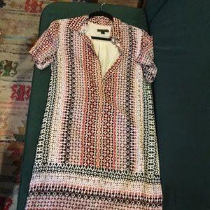 J. Crew Multicolor print shirt dress